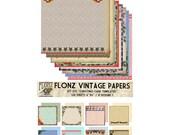 "Scrapbooking Craft Paper Pack (24pcs 6""x6"") FLONZ 035 Christmas Card Templates"