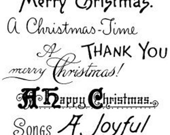 "Christmas Greetings - Christmas Time // Clear stamps pack (4""x7"") FLONZ"