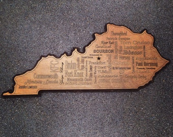 State of Kentucky Wordle - Word Wall Art