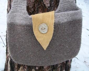 Cascade - Grey Felted bag
