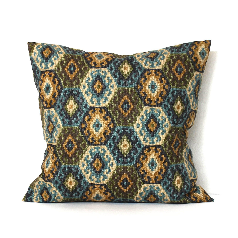 Southwest Throw Pillow Cover Decorative Pillow Blue Pillow