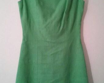 Vintage Sloat dress, Green Linen