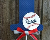 Numerical Cake Topper -Personalized Centerpiece -Vintage Baseball -Birthday -Smash Cake Topper -Photo Prop -Made to Match -Sports -Base ball