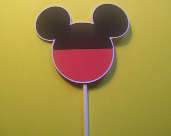 Set of 24 Mickey Mouse Icon Cupcake Toppers