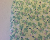 READY to SHIP- Girl Crib Sheet- Crib Sheet- Cotton Crib Sheet- Floral Sheet