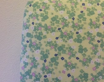 Crib Sheet- Baby Sheet- READY to SHIP- Girl Crib Sheet- Crib Sheet- Cotton Crib Sheet- Floral Sheet