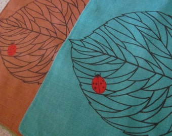 Set of 4 Rare Jerry Roupe Vintage Retro Colorful Linen Place Mats Unused Mint