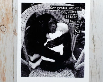 Blank Greeting Card - #94 - Congratulations on Your Little Bundle Of Joy