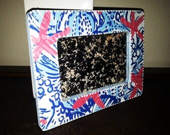 LILLY PULITZER Inspired pattern She She Shells Picture Frame by Mama Duck Creations