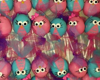 Owl cake pops Owl party favors Owl shower favors