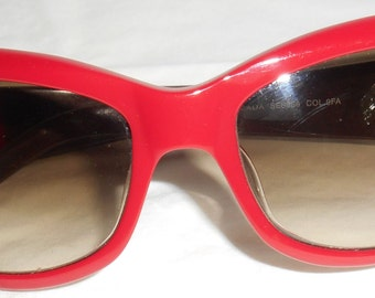 ESCADA VIntage 1980s Sunglasses Eyeglasses Red Brown HapaChico Haute Couture