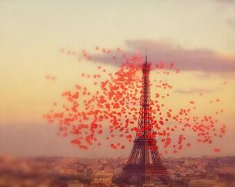 Paris photography, Paris art, Part art print, large art print, Afloat above Paris
