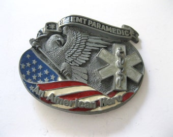 Emergency Medical Technician Belt Buckle EMT An American Hero Doctor free shipping - FL