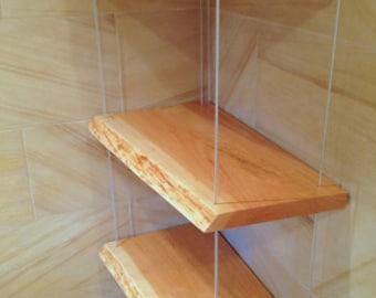 Live edge walnut shelf