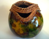 Gourd Art with Pine Needl...