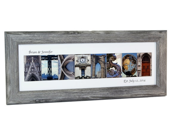 personalized last name picture frame w by creativeletterart With last name letter picture frame