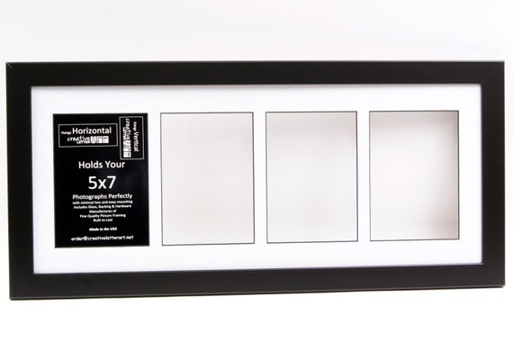 5x7 black 3 4 5 6 7 8 opening picture frames with collage mat. Black Bedroom Furniture Sets. Home Design Ideas