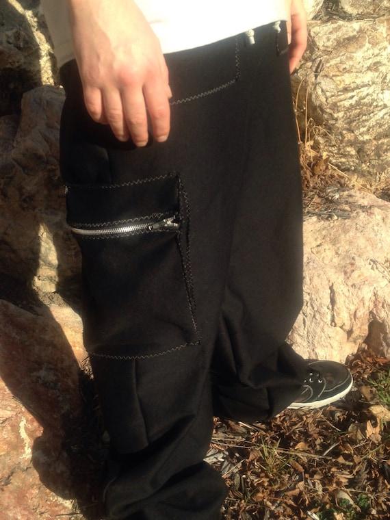 Cargo Pants-men's pants Adjustable Waist-Menswear-Loose