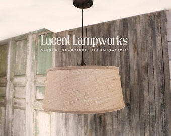 Taper Drum Shade - Burlap Natural - 18 Inch