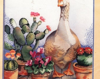 Southwestern Pots and Duck by Something Special Counted Cross Stitch and Partially Printed Image Kit- 8