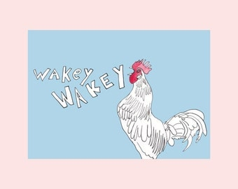 Art print, Wakey Wakey, (8,3x11,7 inch)