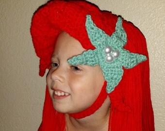 Crocheted Ariel Hat
