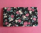 Rose Garden Floral Checkbook Cover