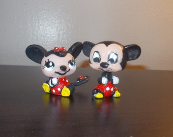 Littlest pet shop ,Mickey and minnie mouse !!! custom ,ooak