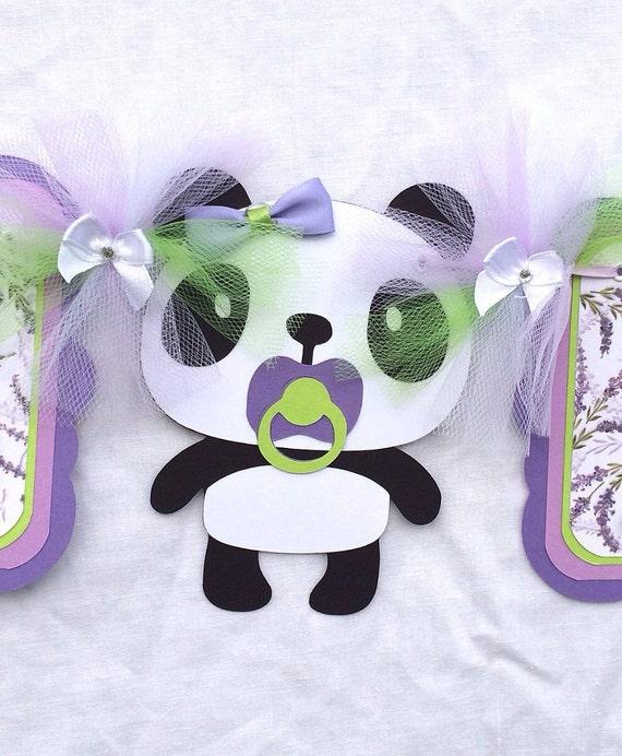 panda baby shower panda banner baby shower banner handmade banner