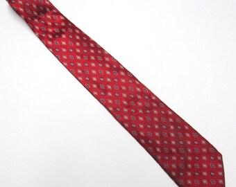 """Red Necktie Haggar 3.5"""" Wide Tie Long Silk"""