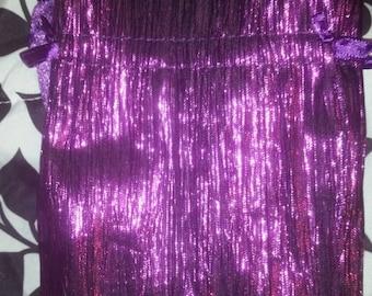 Metalic purple Tarot bag
