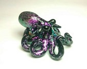 Purple Dichroic Octopus pendant