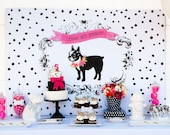 Puppy Party Printable Backdrop INSTANT DOWNLOAD