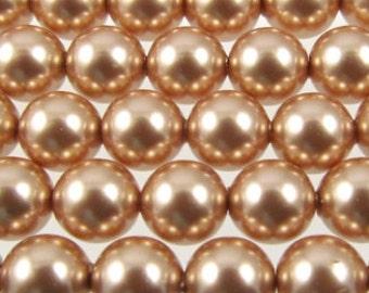 Bronze Swarovski Crystal Pearls 6mm Round Qty 10