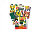 Marimekko Coasters Re-Purposed Ceramic Tile Drink Coasters Colorful Animal Coasters