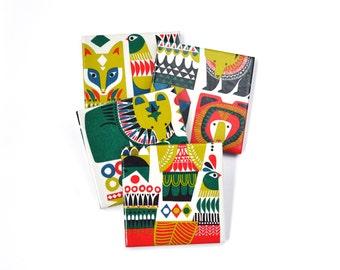 Marimekko Coasters Re-Purposed Ceramic Tile Drink Coasters Colorful Animal Coasters
