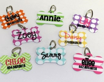 Custom Personalized Pet ID Tag - Dog Tag - Choose your design