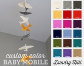 Baby Shower Gift - Choose Your Own Color Birds Strand Mobile - 100% Merino Wool Felt - Lightfast Colors - Heirloom Quality Baby Mobile