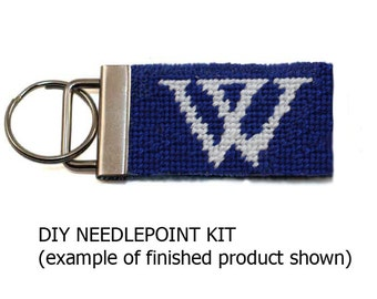 College or University Emblem Needlepoint Key Fob KIT