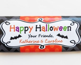 Personalized Halloween Candy Bar Wrappers Printable - Ghosts and Ghouls Collection