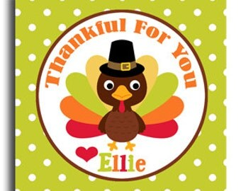 Printable Thanksgiving Treat Tags or Gift Tags or Cupcake Toppers - Turkey Day Delight