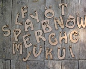 Monster letters 4 in hight, 0,24 in thick. MDF letters. For hanging, sticking