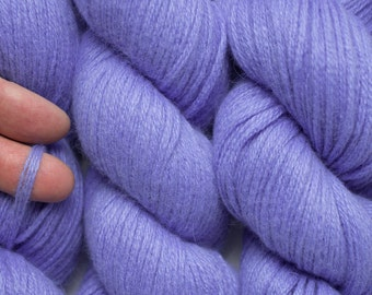 Cornflower Blue Two Wool Blend Recycled Aran Weight Yarn, 498 Yards Available in Three Skeins of Different Lengths