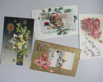 Antique Postcards early 1900s used