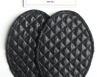 Elbow Patches - Black Quilt  - Set of 2