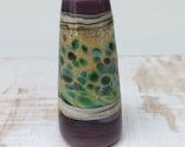 Designer lampwork glass light pull or focal bead Autumn Purple