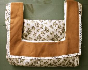 Vintage Handmade Floral Cotton Dress Small