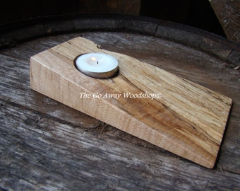 Wedge tea light holder