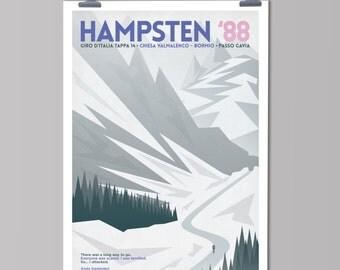Cycling Art Print - Panache: Hampsten '88