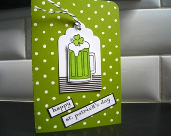Saint Patrick's Day Card, St. Patty's Day, Green Beer Card